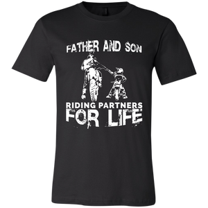 Father And Son Riding Partners For Life Youth Jersey Short Sleeve T-Shirt - Love Family & Home