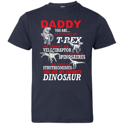 Image of Daddy You Are My Favorite Dinosaur Youth Jersey T-Shirt - Love Family & Home