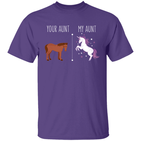 Your Aunt My Aunt Horse Unicorn Youth T-Shirt - Love Family & Home