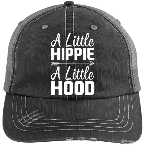 A Little Hippie A Little Hood Distressed Trucker Cap