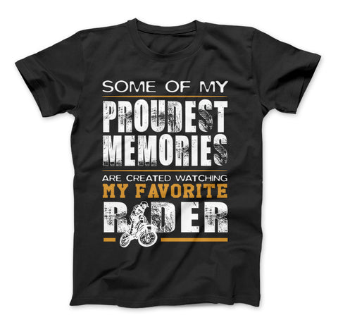 Watching My Favorite Rider T-Shirt For Dirt Bike Parents - Love Family & Home