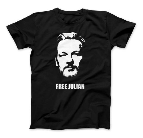 Image of Free Julian Assange Print Wikileaks T-Shirt Political - Love Family & Home