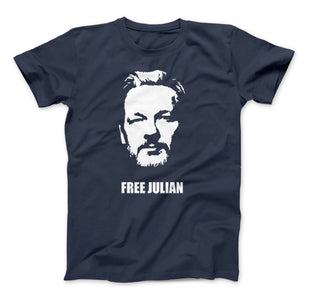 Free Julian Assange Print Wikileaks T-Shirt Political - Love Family & Home