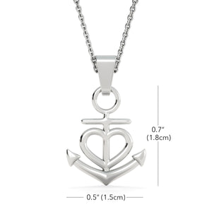 My Best Friend Anchor Necklace, In High Tide Or Low Tide I Will Be By Your Side - Love Family & Home