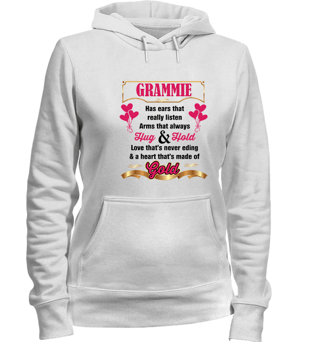 Grammie Hug And Hold Heart Made Of Gold T Shirts And Apparel