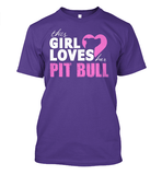 This Girl Loves Her Pit Bull Apparel - Perfect For Anyone who Loves Their Pit Bull! - Love Family & Home  - 5
