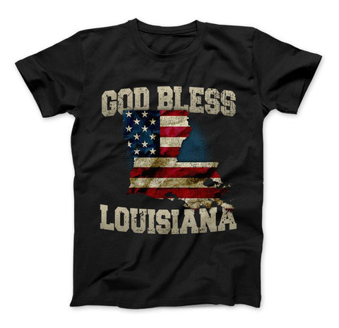God Bless Louisiana Limited Edition Print T-Shirt & Apparel - Love Family & Home