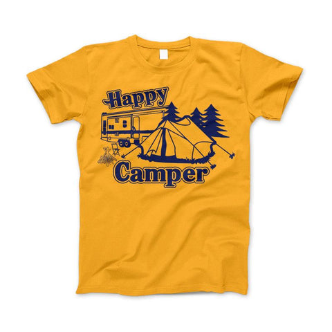 Happy Camper Shirt For Camping Hiking And Outdoor Enthusiast - Love Family & Home  - 1