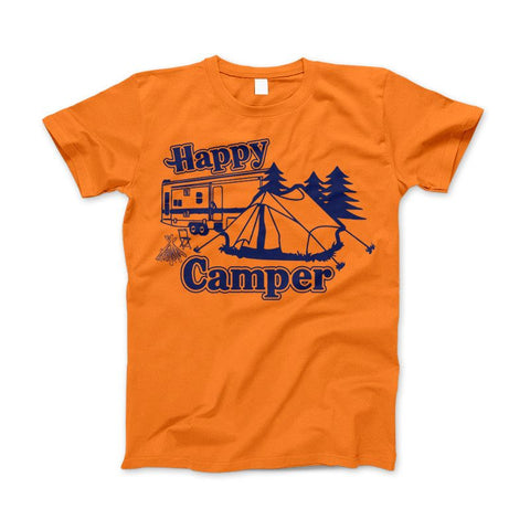 Image of Happy Camper Shirt For Camping Hiking And Outdoor Enthusiast - Love Family & Home