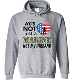 He's Not Just A MARINE He's My HUSBAND Apparel - Love Family & Home  - 7