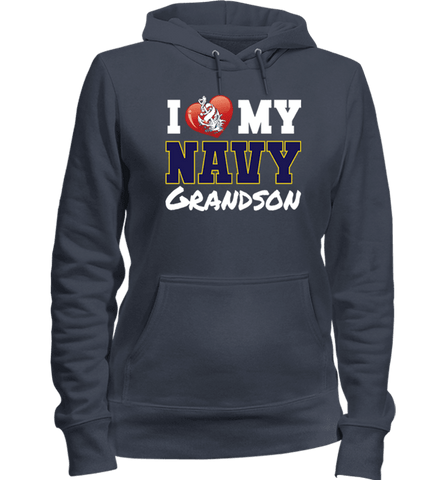 Image of I Love My Navy Grandson Apparel (Can Be Customized) - Love Family & Home