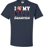 I Love My Navy Grandson Apparel (Can Be C) - Love Family & Home  - 2