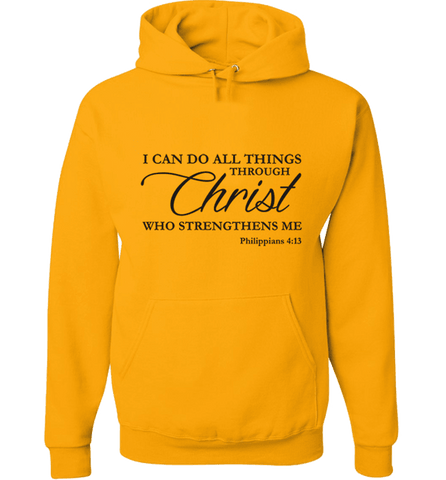 Image of I CAN DO ALL THINGS THROUGH CHRIST PHILIPPIANS 4:13 T-Shirt and Apparel - Love Family & Home