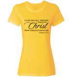 I CAN DO ALL THINGS THROUGH CHRIST PHILIPPIANS 4:13 T-Shirt and Apparel - Love Family & Home  - 9