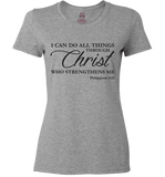 I CAN DO ALL THINGS THROUGH CHRIST PHILIPPIANS 4:13 T-Shirt and Apparel - Love Family & Home  - 8