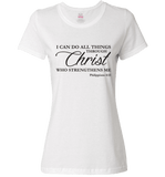 I CAN DO ALL THINGS THROUGH CHRIST PHILIPPIANS 4:13 T-Shirt and Apparel - Love Family & Home  - 7