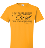 I CAN DO ALL THINGS THROUGH CHRIST PHILIPPIANS 4:13 T-Shirt and Apparel - Love Family & Home  - 3