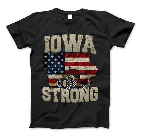 Iowa Farm Strong Farm Limited Edition Print Iowa State Farming T-Shirt & Apparel