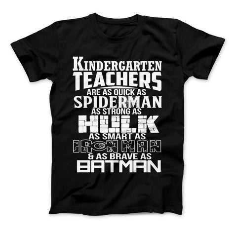 Image of Kindergarten Teachers Superhero Family T-Shirt For Super Teachers - Love Family & Home