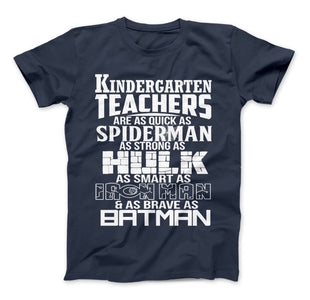 Kindergarten Teachers Superhero Family T-Shirt For Super Teachers - Love Family & Home