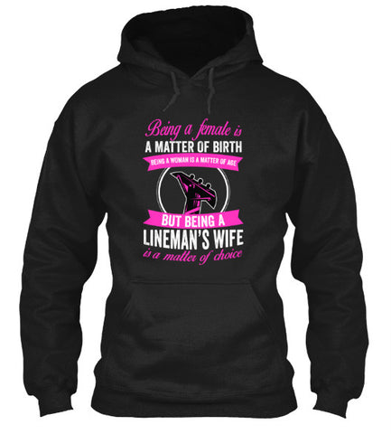 Image of Being A Lineman's Wife T-Shirt & Apparel - Love Family & Home