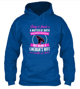 Being A Lineman's Wife T-Shirt & Apparel - Love Family & Home
