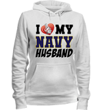 I Love My Navy Husband Proud Navy Wife Apparel - Love Family & Home  - 3