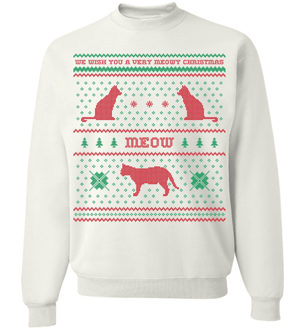 We Wish You A Meowy Christmas - Cat Christmas Apparel - Love Family & Home  - 1