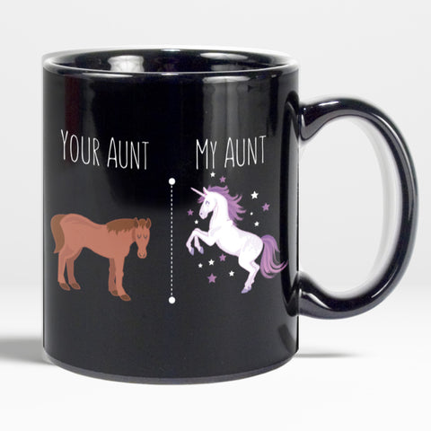Image of Your Aunt My Aunt Horse Unicorn Funny Coffee Mug For Cool Crazy Aunts Unicorn Mug