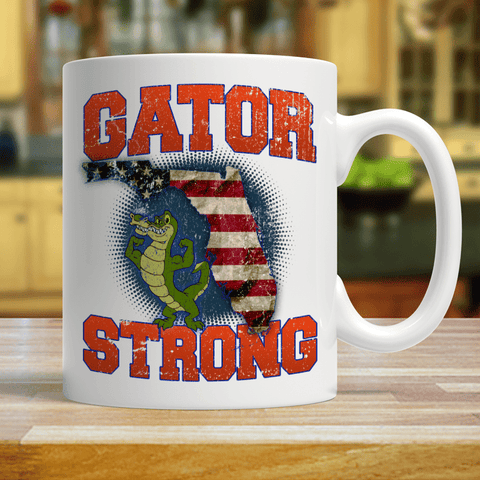 Image of Gator Strong Florida Special Gator Limited Edition Print Collectible Coffee Mug - Love Family & Home