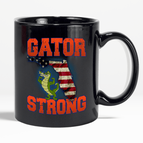 Gator Strong Florida Special Gator Limited Edition Print Collectible Coffee Mug - Love Family & Home