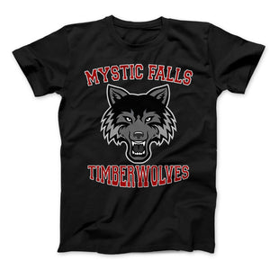 Mystic Falls Timberwolves T-Shirt Vampire Diaries Mystic Falls High School Virginia - Love Family & Home