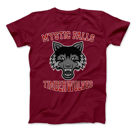 Image of Mystic Falls Timberwolves T-Shirt Vampire Diaries Mystic Falls High School Virginia - Love Family & Home
