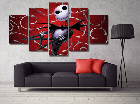 Image of Nightmare Before Christmas 5-Piece Wall Art Canvas - Love Family & Home