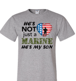 He's Not Just A MARINE He's My SON Apparel - Love Family & Home  - 2