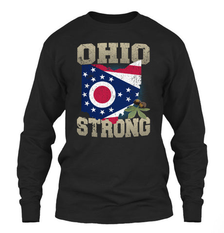 Ohio Strong Ohio State Flag The Buckeye State T-Shirt & Apparel - Love Family & Home