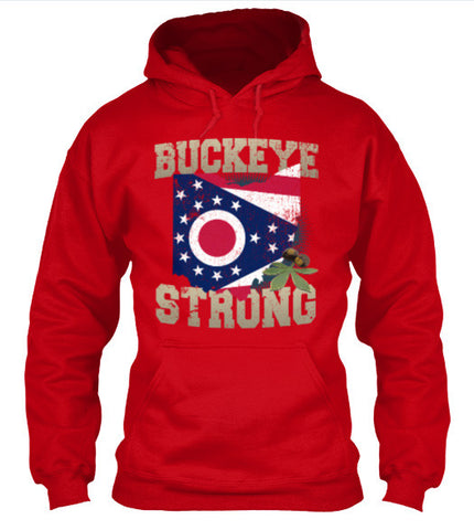Buckeye Strong Ohio State Flag T-Shirt & Apparel - Love Family & Home