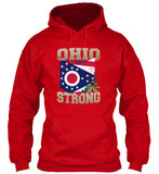 Ohio Strong Ohio State Flag The Buckeye State T-Shirt & Apparel