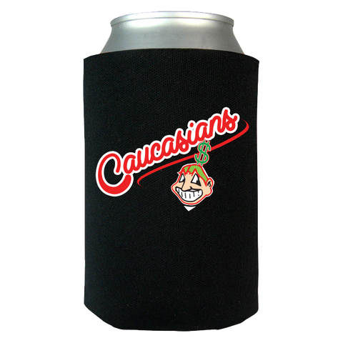 Caucasians Cleveland Indians Chief Wahoo Funny Can Koozie Wrap