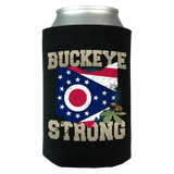 Buckeye Strong Ohio State Flag Limited Edition Print Can Koozie Wrap