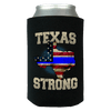 Texas Strong Thin Blue Line Law Enforcement Print Can Koozie Wrap - Love Family & Home