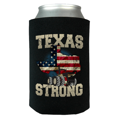 Texas Farm Strong Limited Edition Print Farmers Can Koozie Wrap - Love Family & Home