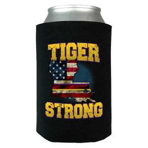 Tiger Strong Limited Edition Print Can Koozie Wrap - Love Family & Home