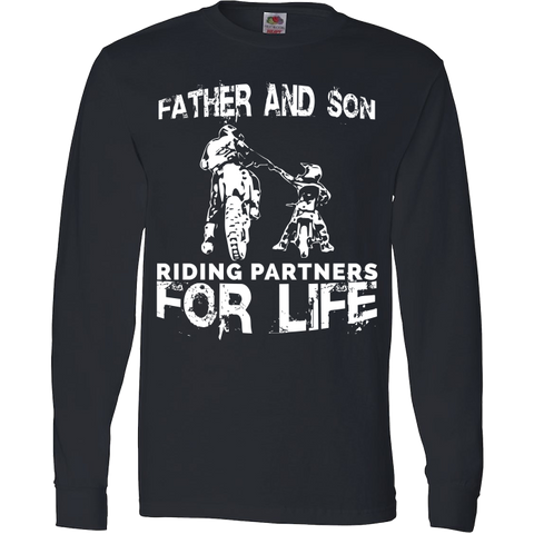 Father And Son Riding Partners For Life T-Shirt Motocross Supercross Dirt Bikes - Love Family & Home