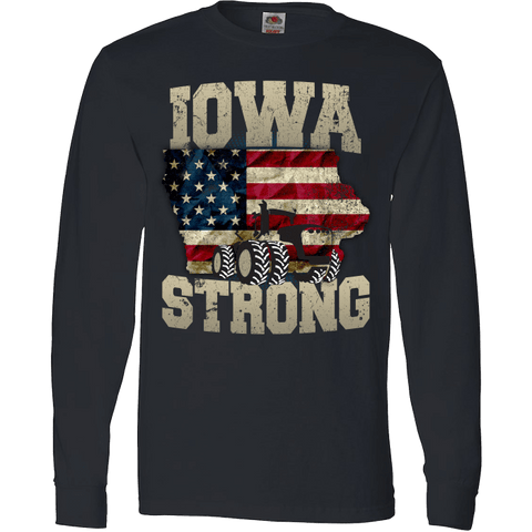 Image of Iowa Farm Strong Farm Limited Edition Print Iowa State Farming T-Shirt & Apparel - Love Family & Home