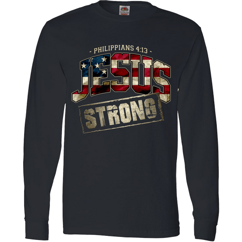 Image of Jesus Strong Philippians 4:13 Limited Edition Print T-Shirt & Apparel - Love Family & Home