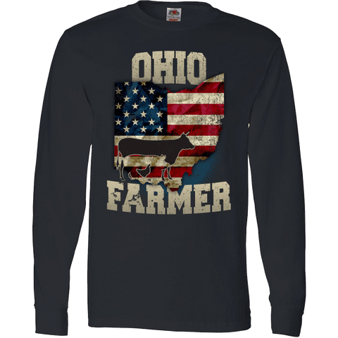 Image of Ohio State Farmer Limited Edition Print T-Shirt & Apparel - Love Family & Home