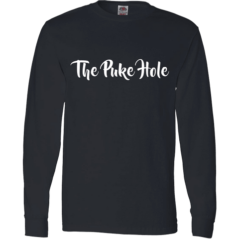 Image of The Puke Hole Original White Print T-Shirt & Apparel - Love Family & Home