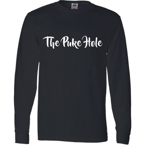 The Puke Hole Original White Print T-Shirt & Apparel - Love Family & Home