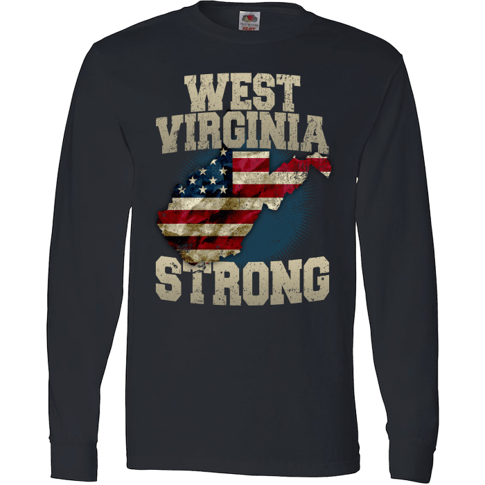 West Virginia Strong Wv State Limited Edition Print T
